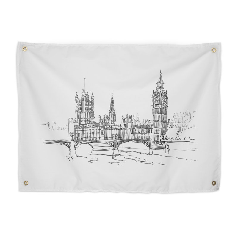 London, England Home Tapestry by LLUMA Creative Design