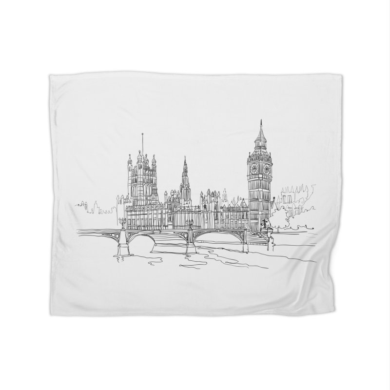 London, England Home Blanket by LLUMA Creative Design