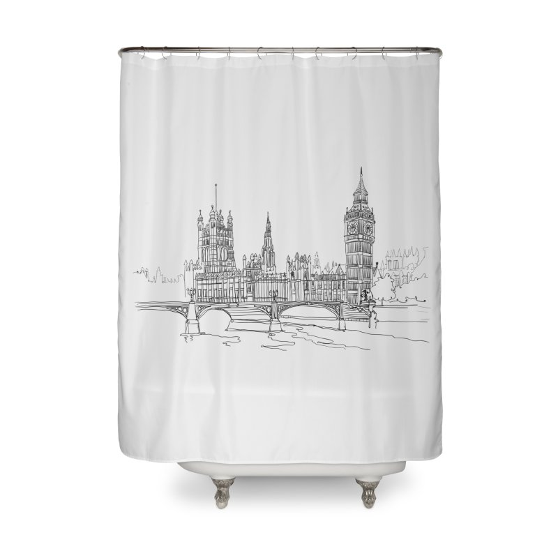 London, England Home Shower Curtain by LLUMA Creative Design