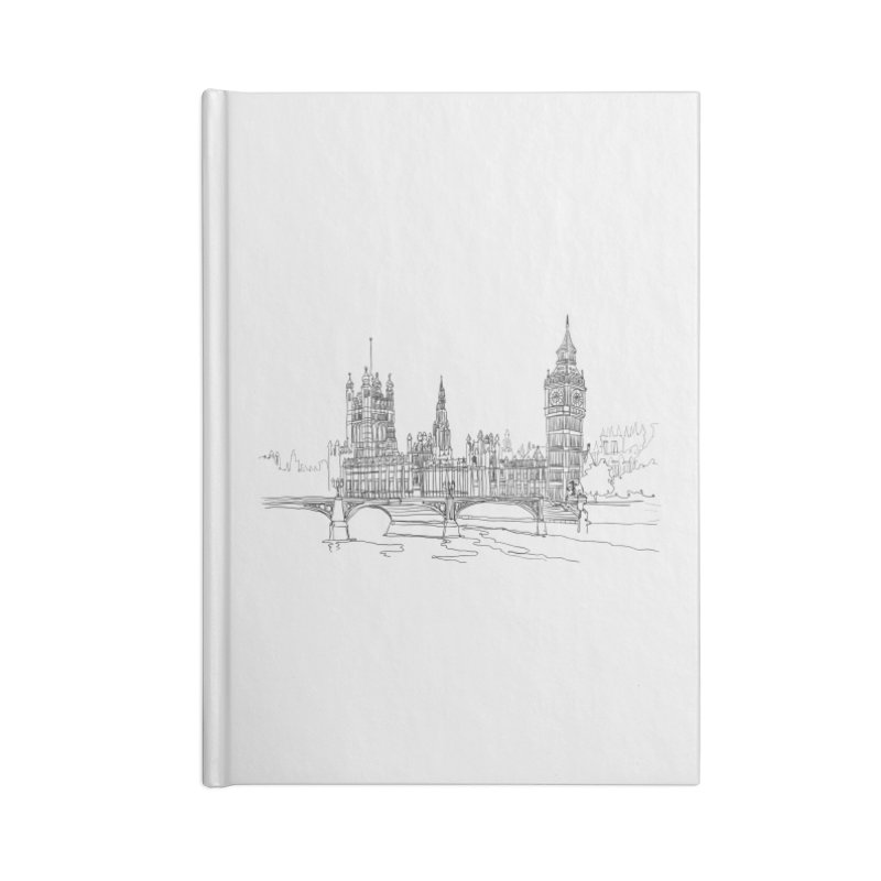 London, England Accessories Notebook by LLUMA Creative Design