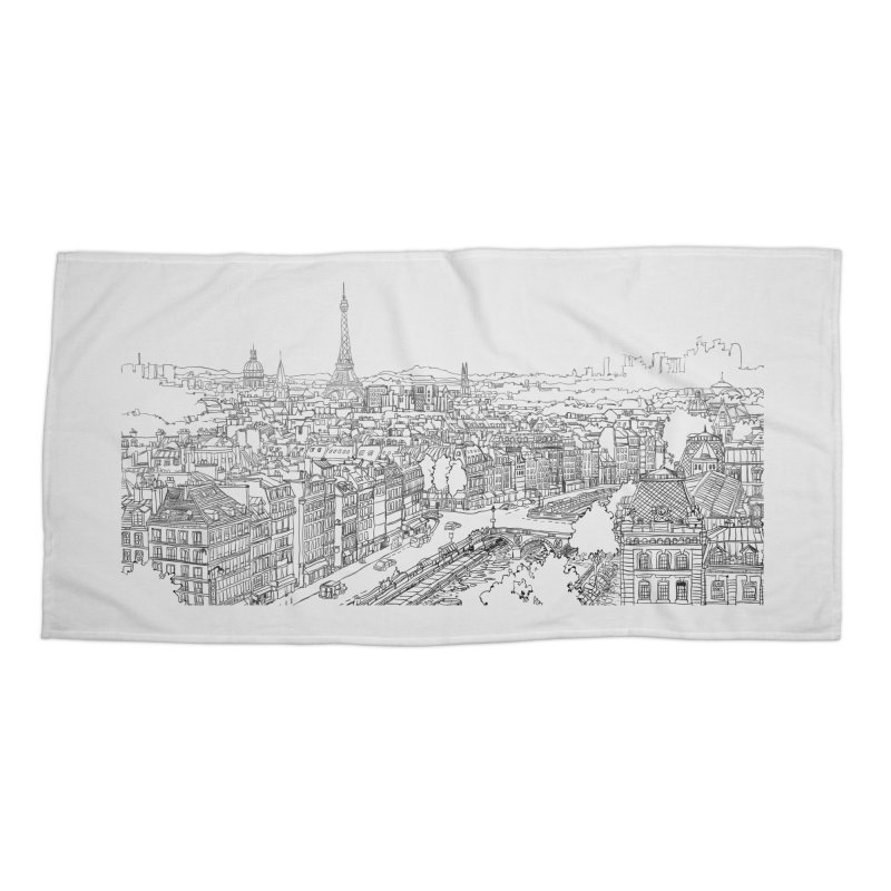Paris, France Accessories Beach Towel by LLUMA Creative Design
