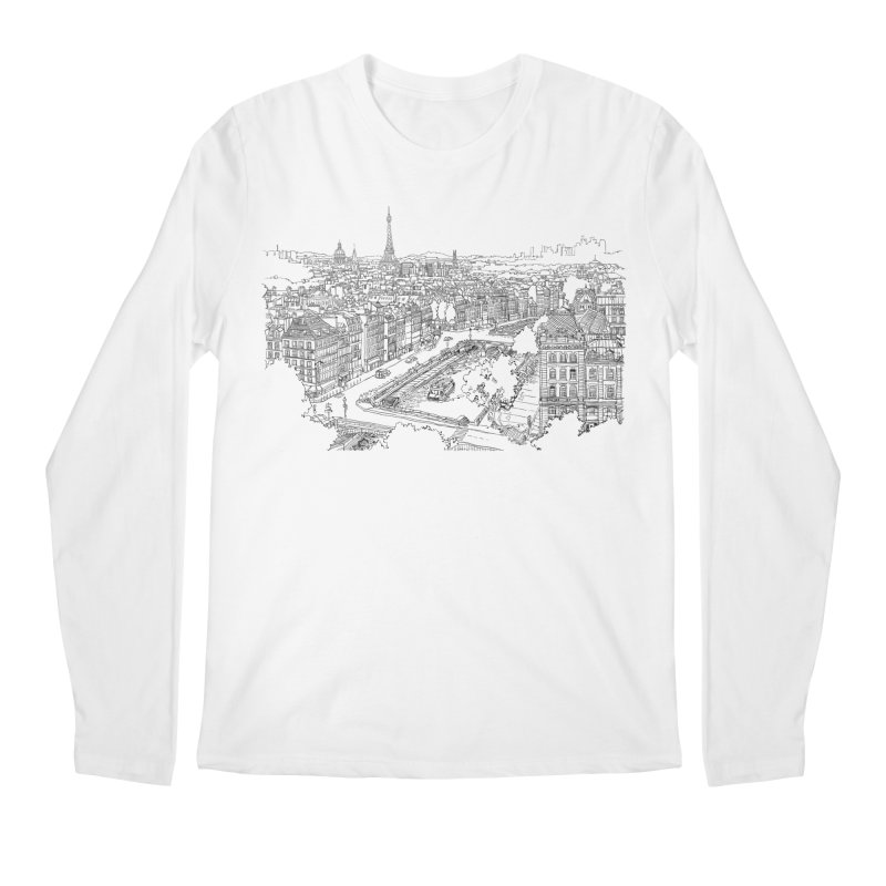 Paris, France Men's Longsleeve T-Shirt by LLUMA Creative Design