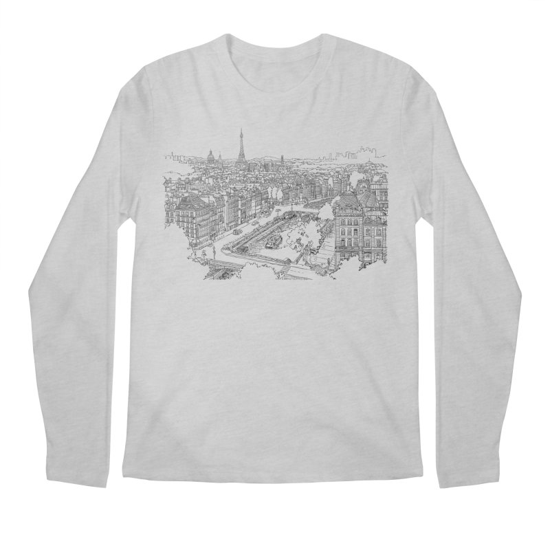 Paris, France Men's Longsleeve T-Shirt by LLUMA Creative Design