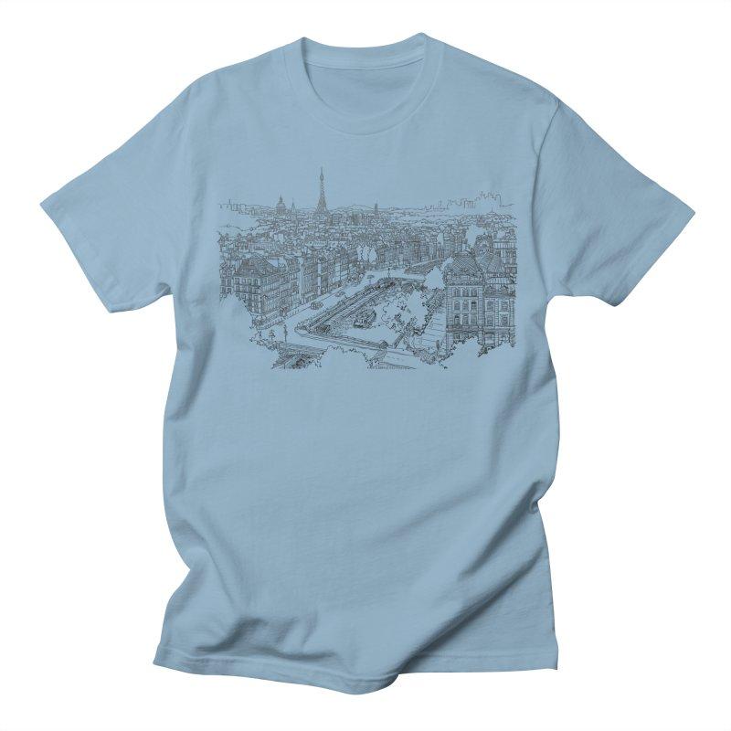 Paris, France Women's Unisex T-Shirt by LLUMA Creative Design