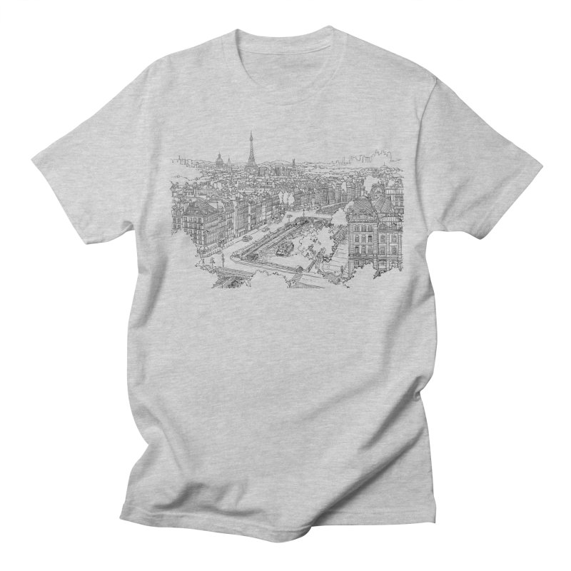 Paris, France Men's T-Shirt by LLUMA Design