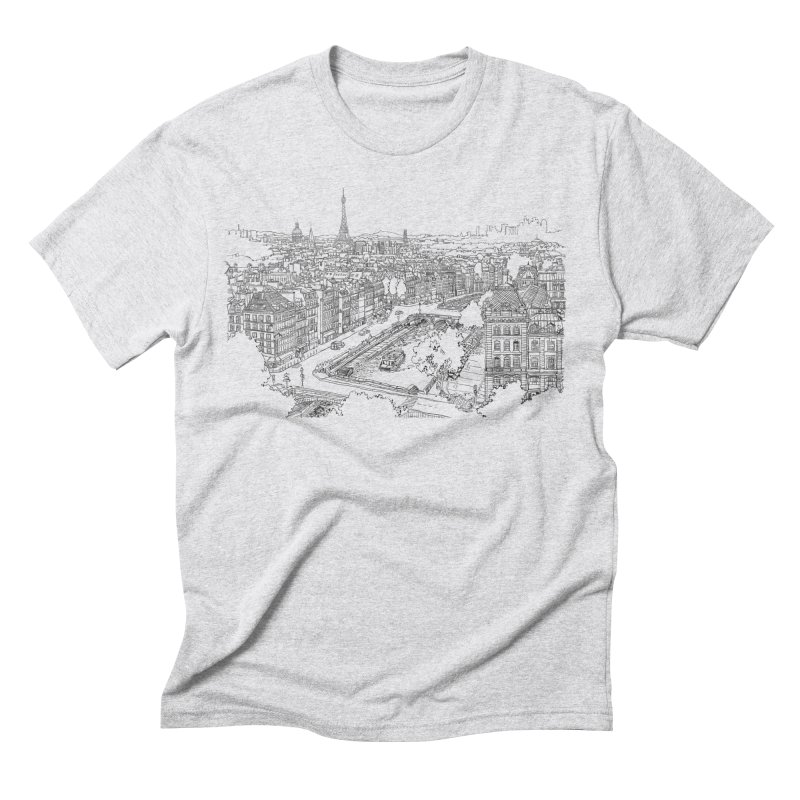 Paris, France Men's Triblend T-Shirt by LLUMA Design