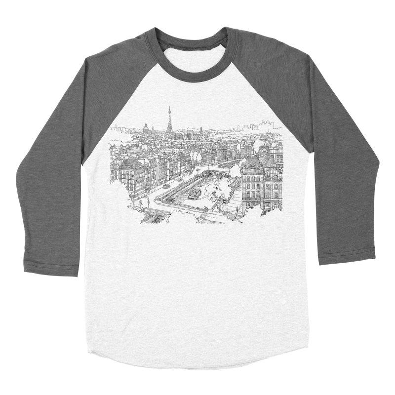 Paris, France Men's Baseball Triblend T-Shirt by LLUMA Design
