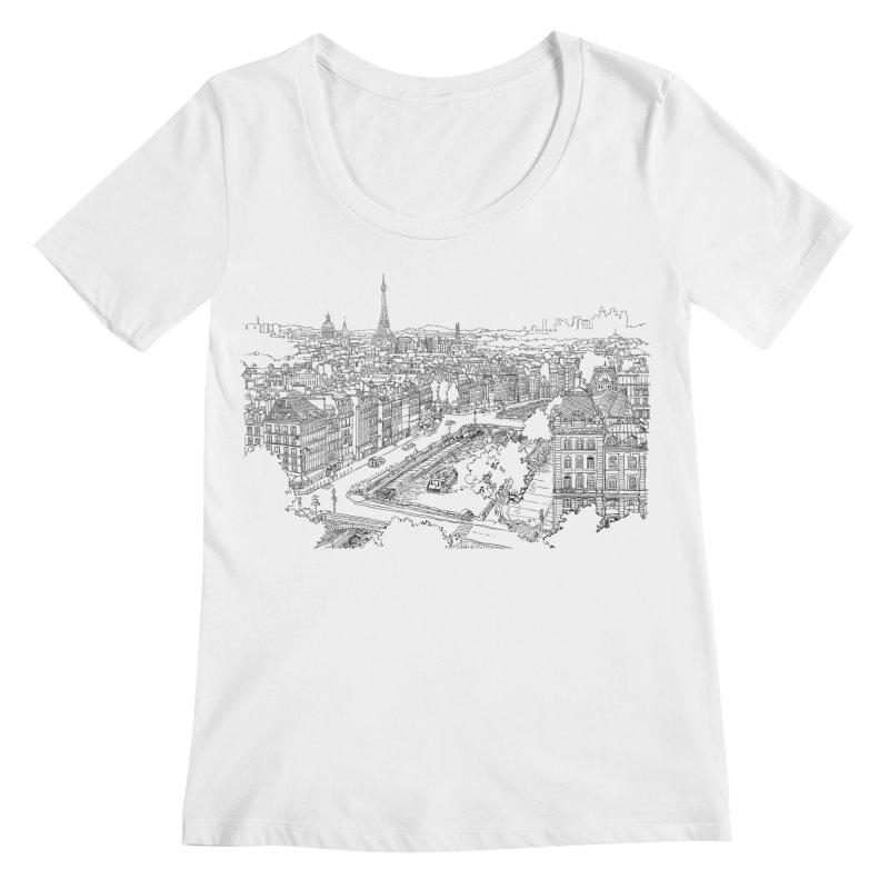 Paris, France Women's Scoopneck by LLUMA Design