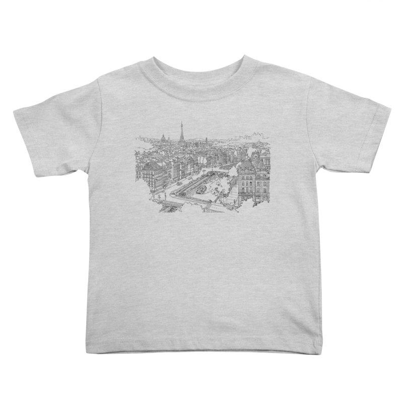 Paris, France Kids Toddler T-Shirt by LLUMA Creative Design