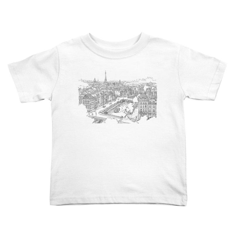 Paris, France Kids Toddler T-Shirt by LLUMA Design