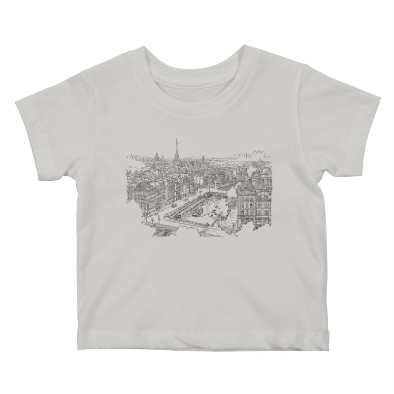 Paris, France Kids Baby T-Shirt by LLUMA Design