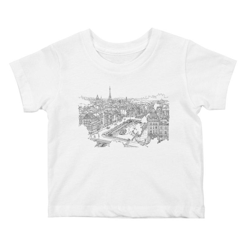 Paris, France Kids Baby T-Shirt by LLUMA Creative Design