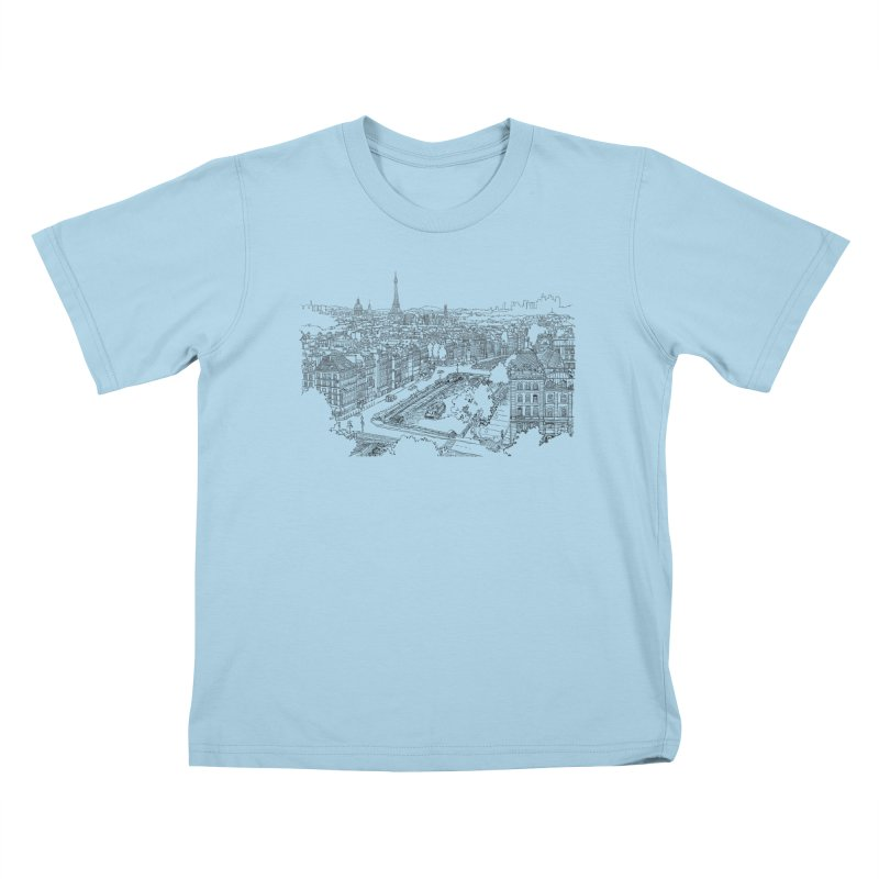 Paris, France Kids T-Shirt by LLUMA Creative Design