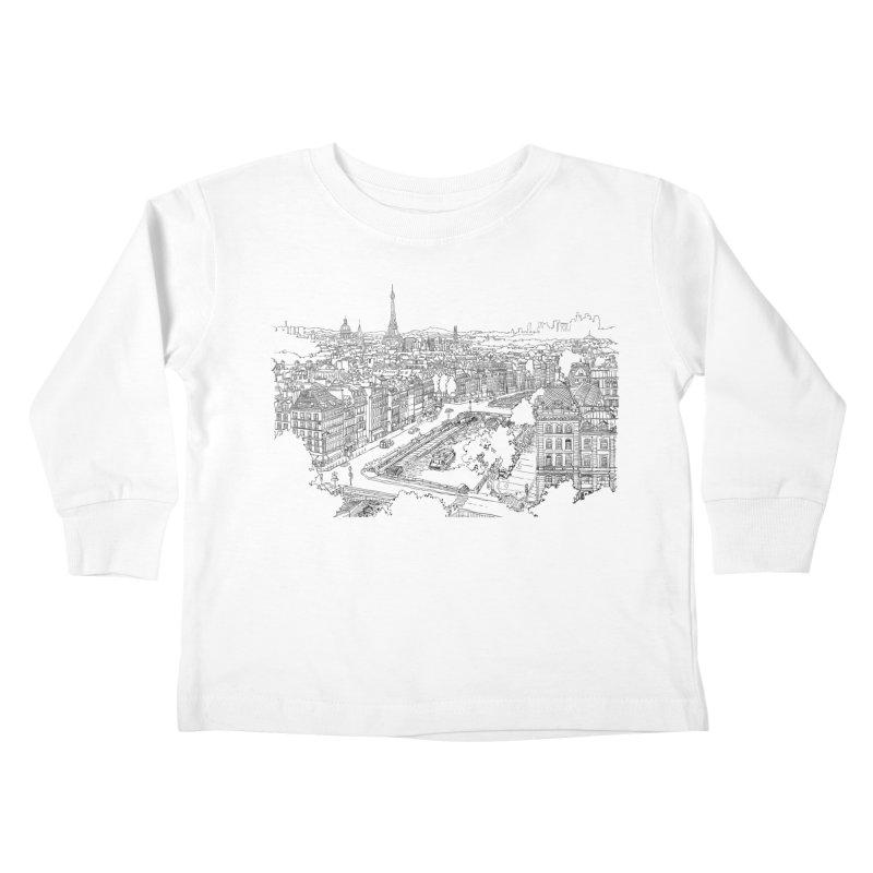 Paris, France Kids Toddler Longsleeve T-Shirt by LLUMA Creative Design