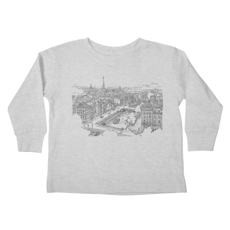 Paris, France Kids Toddler Longsleeve T-Shirt by LLUMA Design