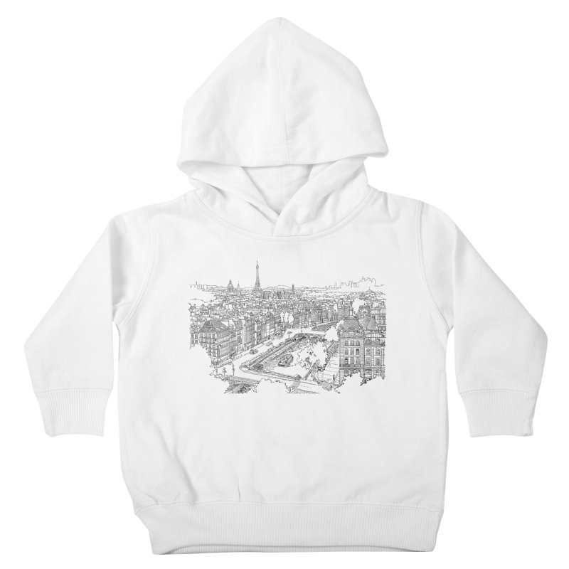 Paris, France Kids Toddler Pullover Hoody by LLUMA Creative Design