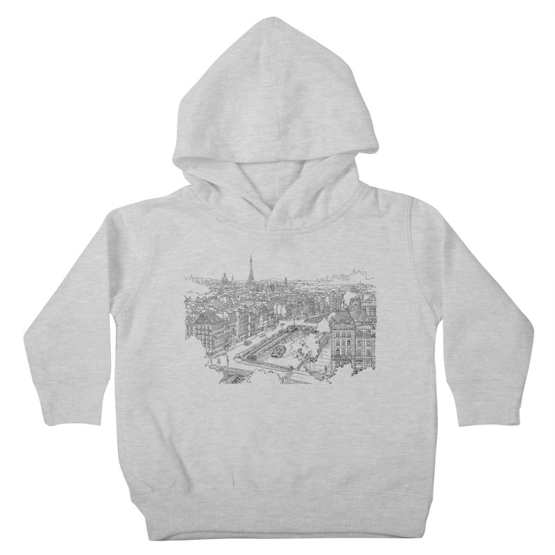 Paris, France Kids Toddler Pullover Hoody by LLUMA Design