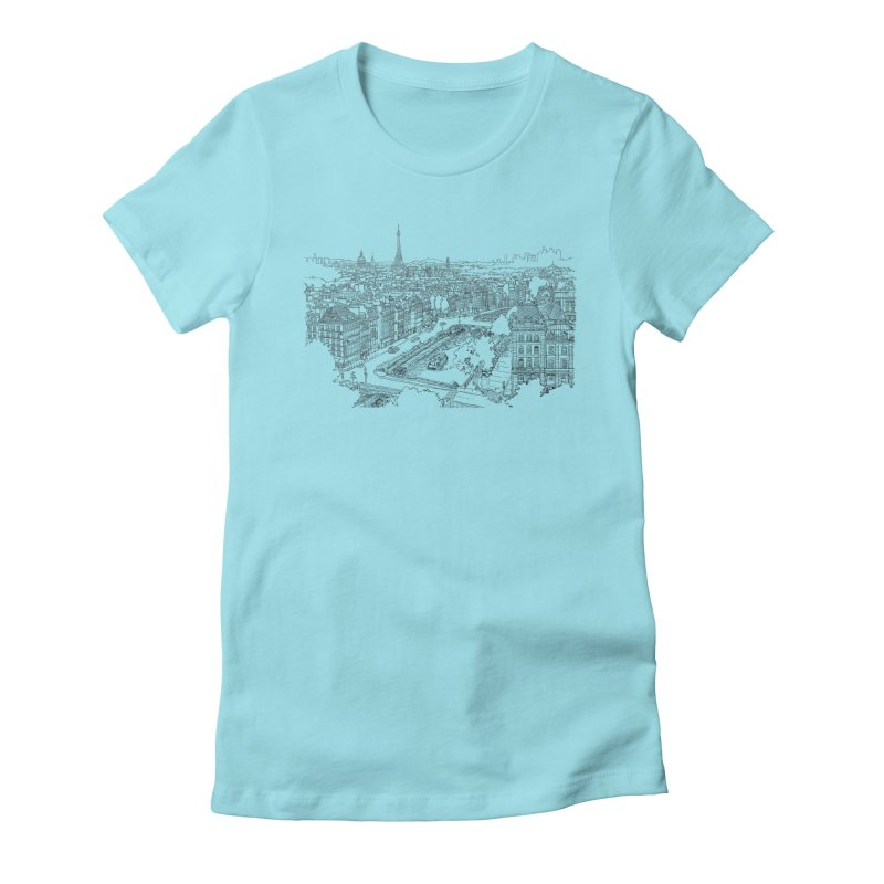 Paris, France Women's Fitted T-Shirt by LLUMA Creative Design