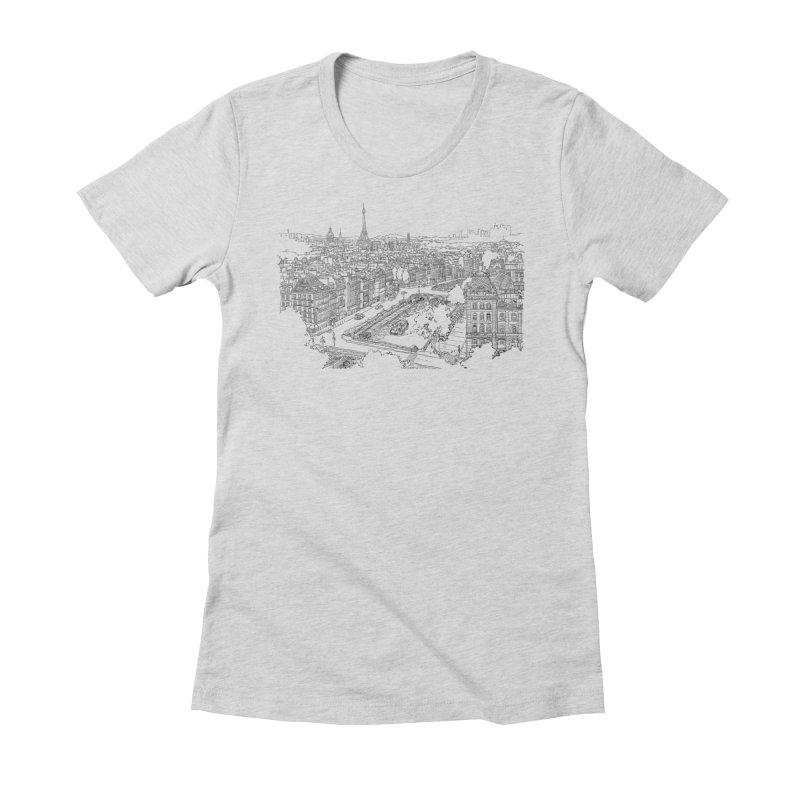 Paris, France Women's Fitted T-Shirt by LLUMA Design