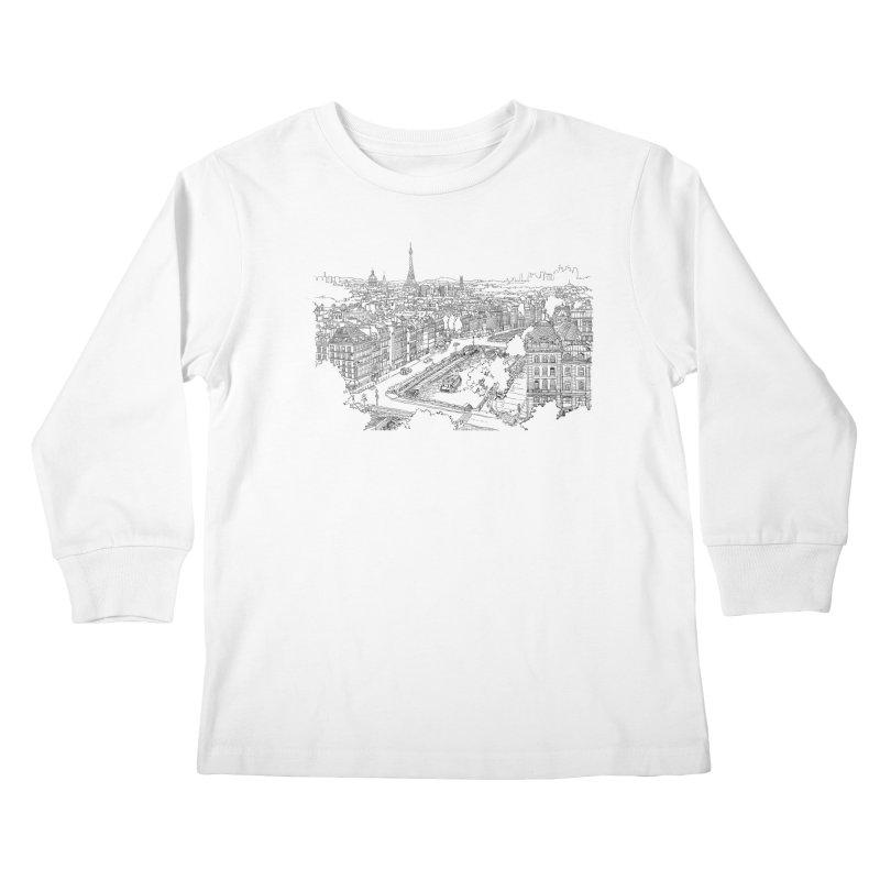 Paris, France Kids Longsleeve T-Shirt by LLUMA Design