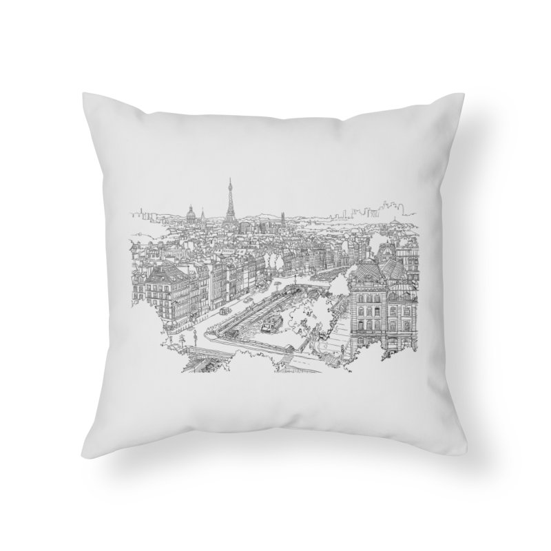 Paris, France Home Throw Pillow by LLUMA Creative Design