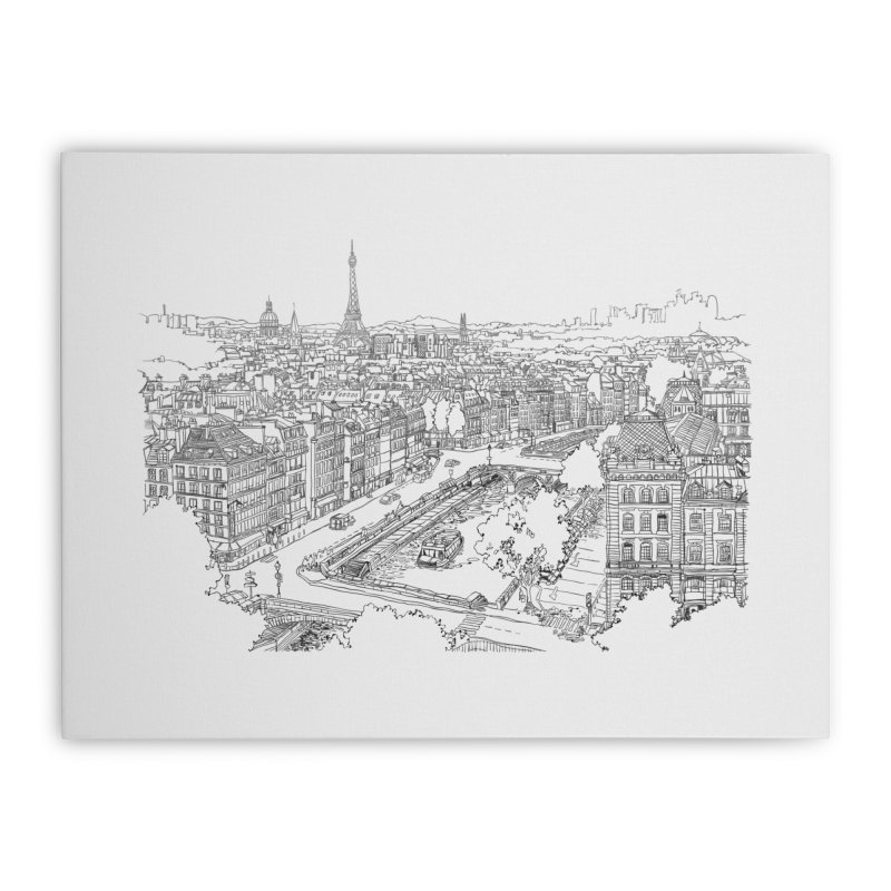Paris, France Home Stretched Canvas by LLUMA Design