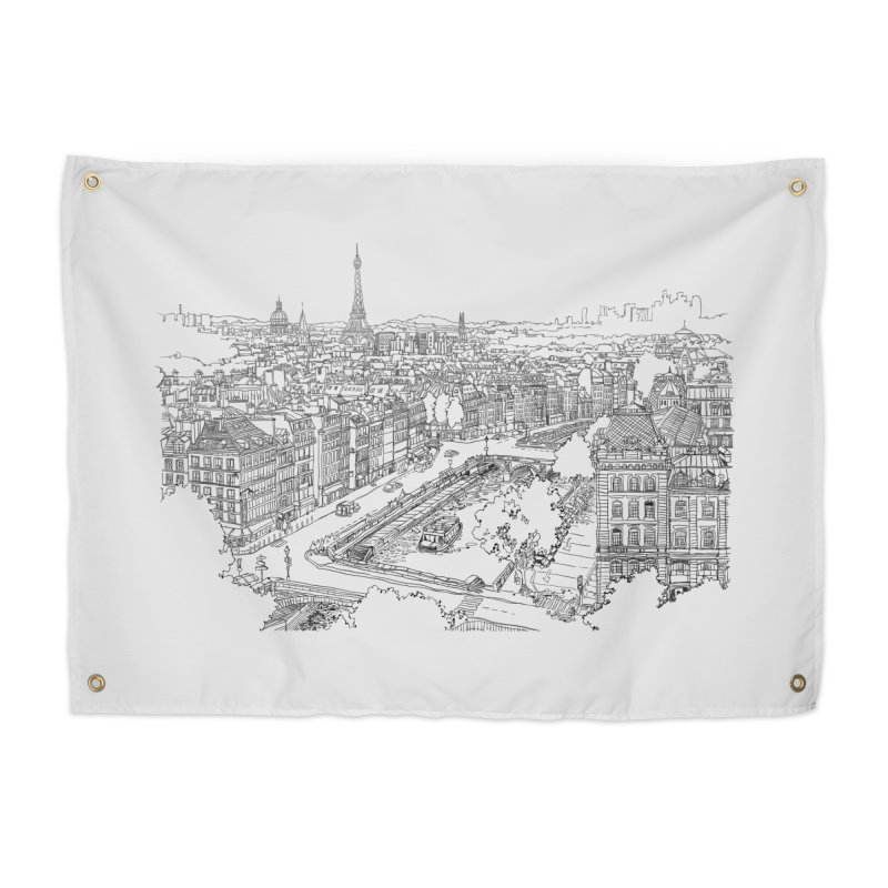 Paris, France Home Tapestry by LLUMA Creative Design