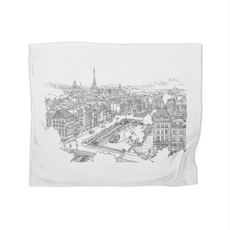 Paris, France Home Blanket by LLUMA Creative Design