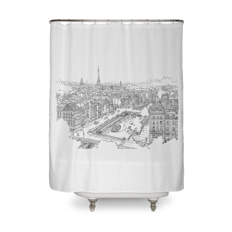 Paris, France Home Shower Curtain by LLUMA Design