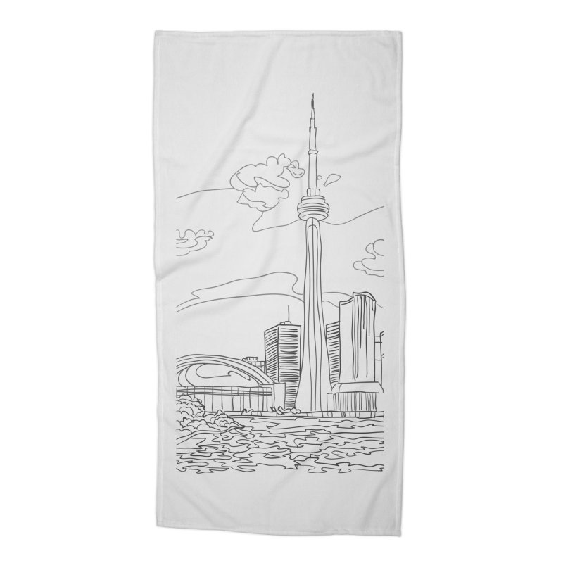 Toronto, Canada Accessories Beach Towel by LLUMA Creative Design
