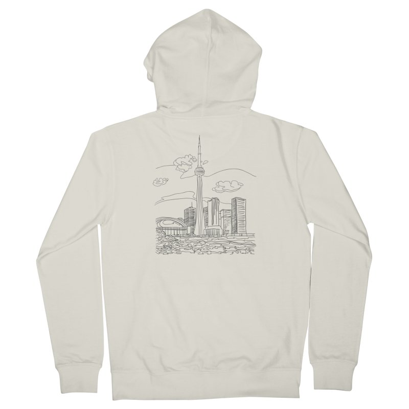 Toronto, Canada Men's Zip-Up Hoody by LLUMA Design