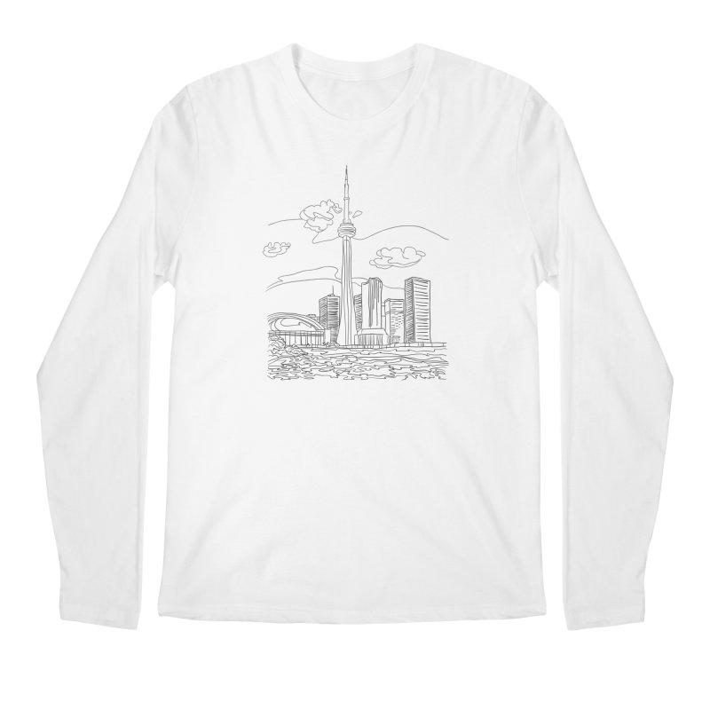 Toronto, Canada Men's Longsleeve T-Shirt by LLUMA Creative Design