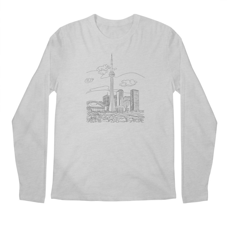 Toronto, Canada Men's Longsleeve T-Shirt by LLUMA Creative Design