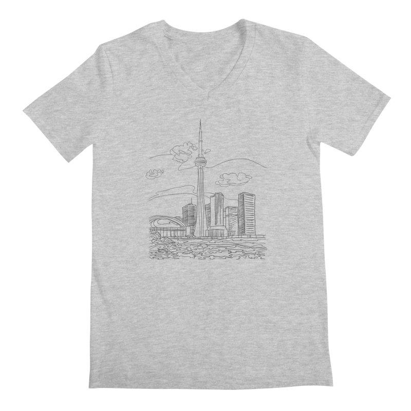 Toronto, Canada Men's V-Neck by LLUMA Design