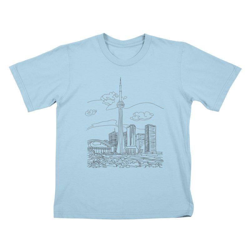 Toronto, Canada Kids T-Shirt by LLUMA Creative Design