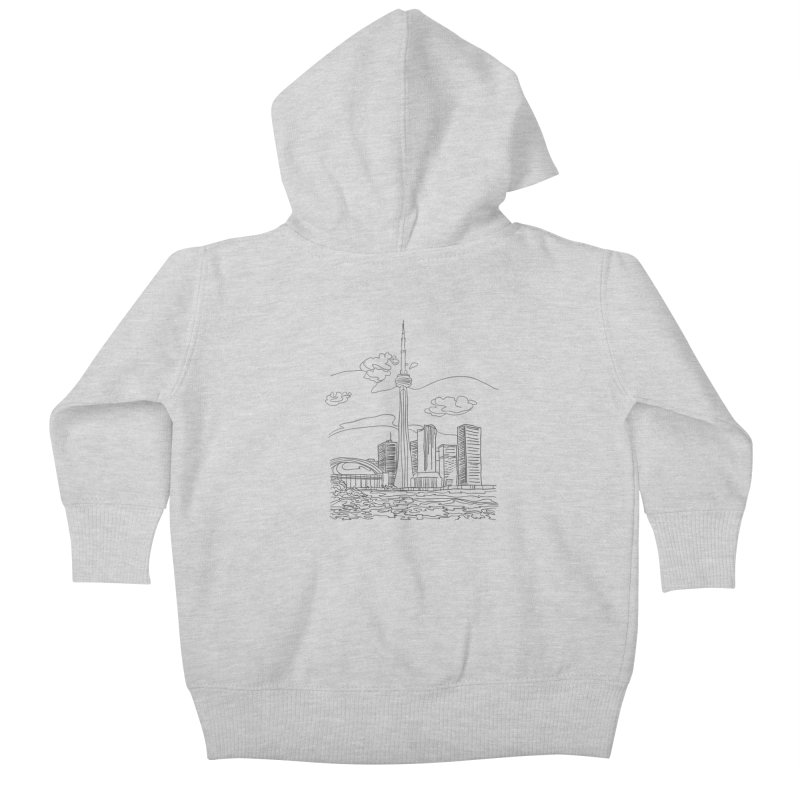 Toronto, Canada Kids Baby Zip-Up Hoody by LLUMA Design