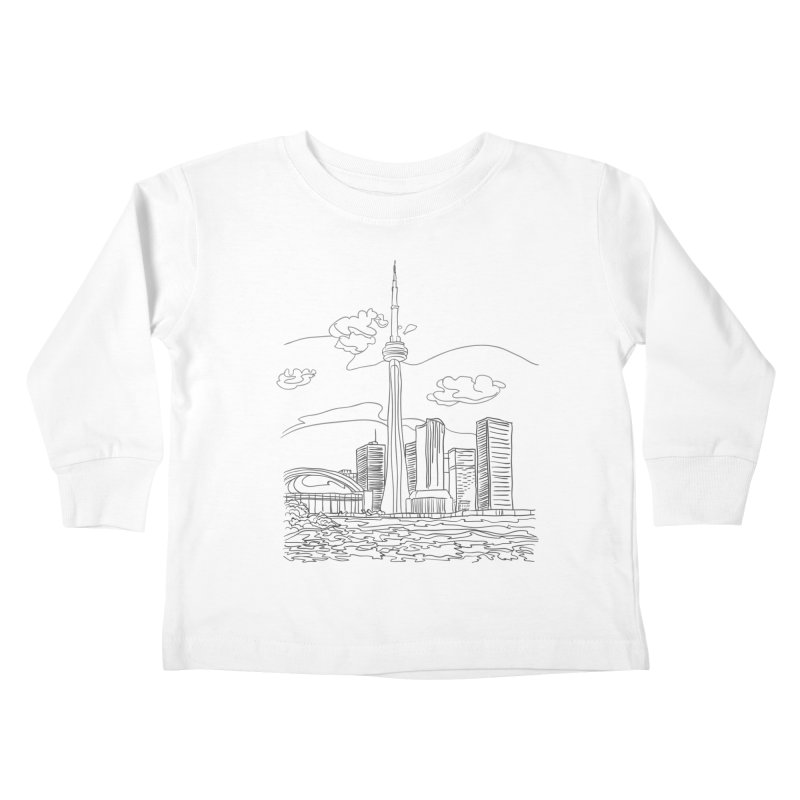 Toronto, Canada Kids Toddler Longsleeve T-Shirt by LLUMA Design