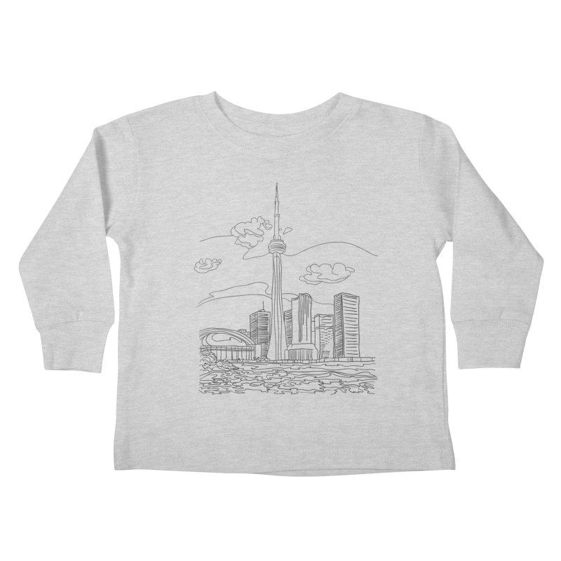 Toronto, Canada Kids Toddler Longsleeve T-Shirt by LLUMA Design