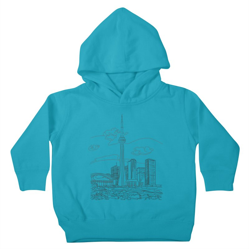Toronto, Canada Kids Toddler Pullover Hoody by LLUMA Creative Design