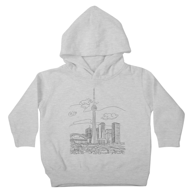 Toronto, Canada Kids Toddler Pullover Hoody by LLUMA Design
