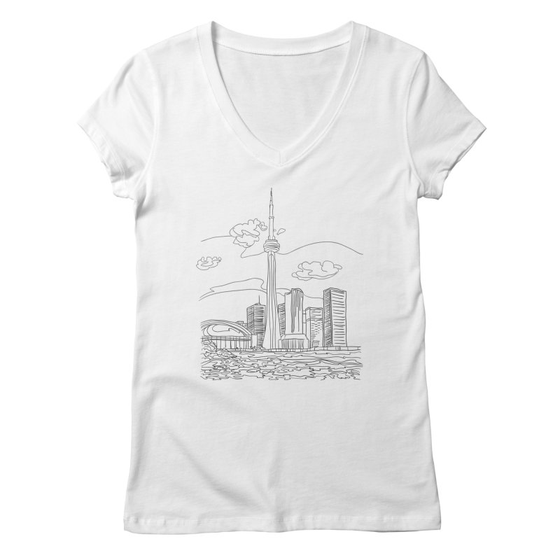 Toronto, Canada Women's V-Neck by LLUMA Design