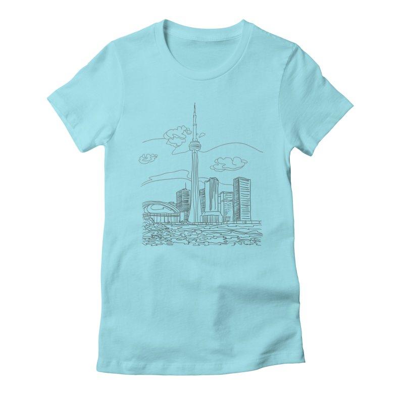 Toronto, Canada Women's Fitted T-Shirt by LLUMA Design