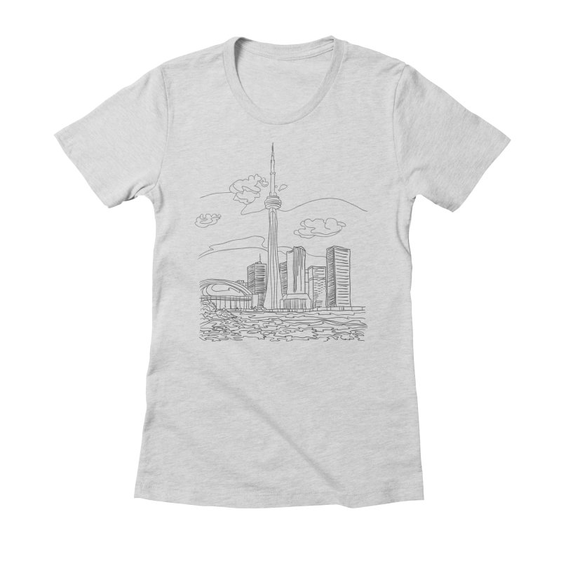 Toronto, Canada Women's Fitted T-Shirt by LLUMA Creative Design