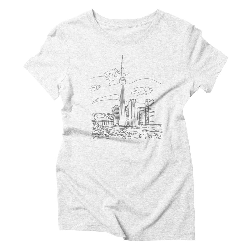 Toronto, Canada Women's Triblend T-shirt by LLUMA Design