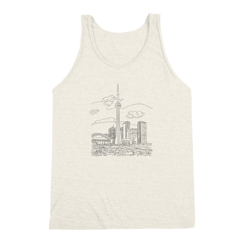 Toronto, Canada Men's Triblend Tank by LLUMA Design