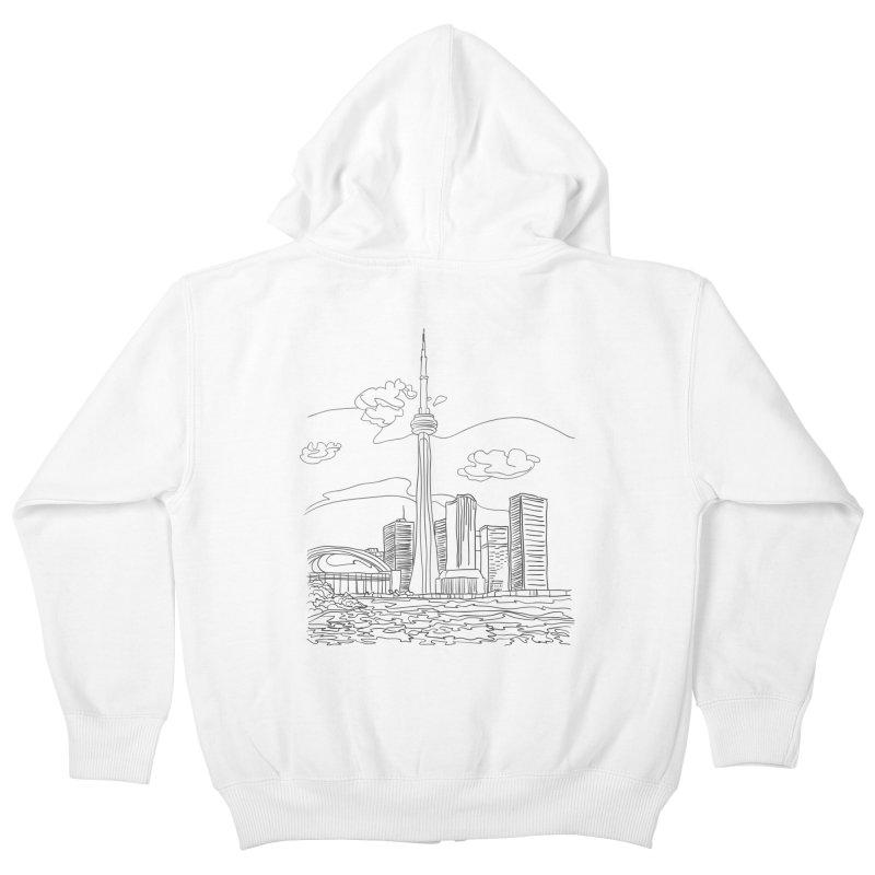 Toronto, Canada Kids Zip-Up Hoody by LLUMA Design