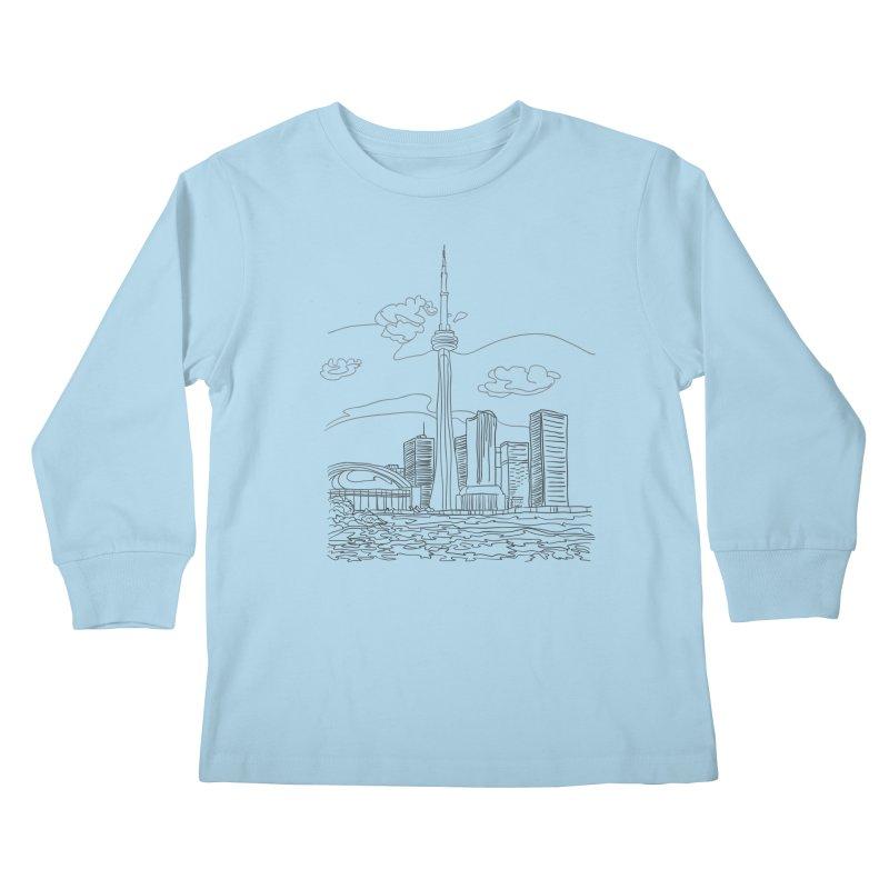 Toronto, Canada Kids Longsleeve T-Shirt by LLUMA Design