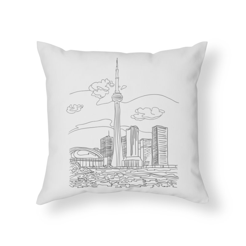 Toronto, Canada Home Throw Pillow by LLUMA Creative Design