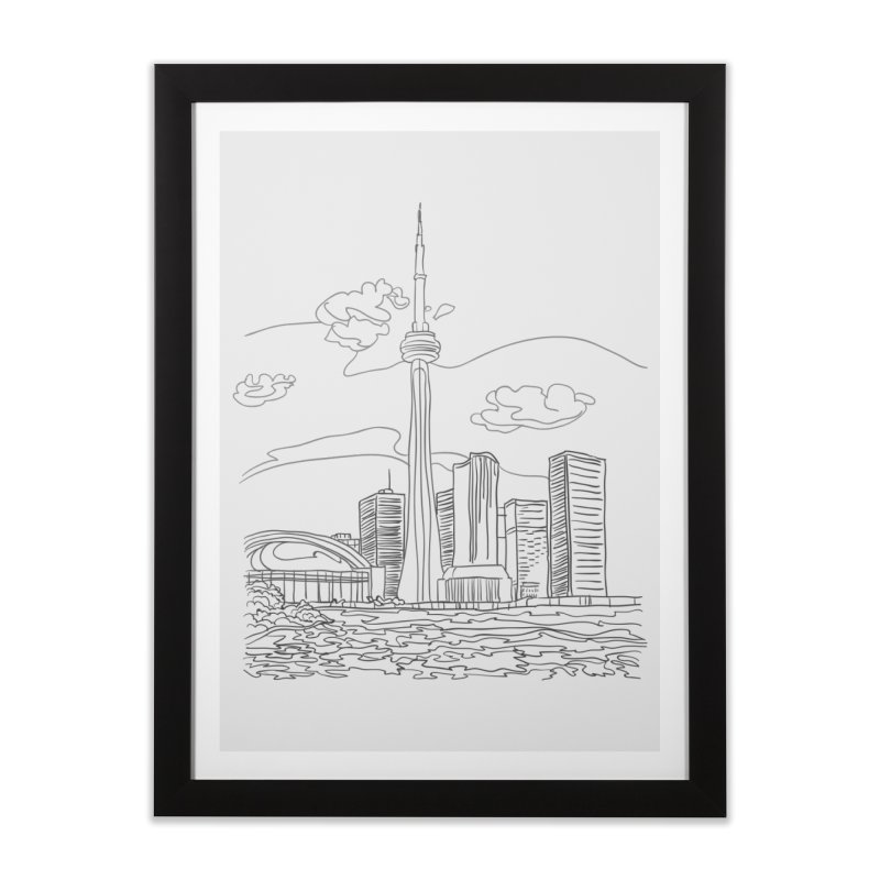 Toronto, Canada Home Framed Fine Art Print by LLUMA Design