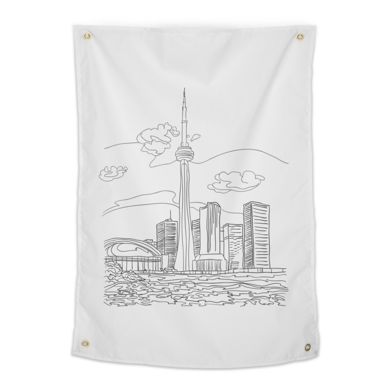 Toronto, Canada Home Tapestry by LLUMA Design